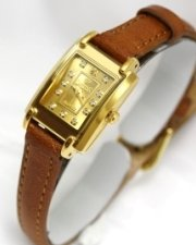 Swistar Watches Swistar Ladies Strap 23 Gold Finish Sapphire Crystal Women's Watch