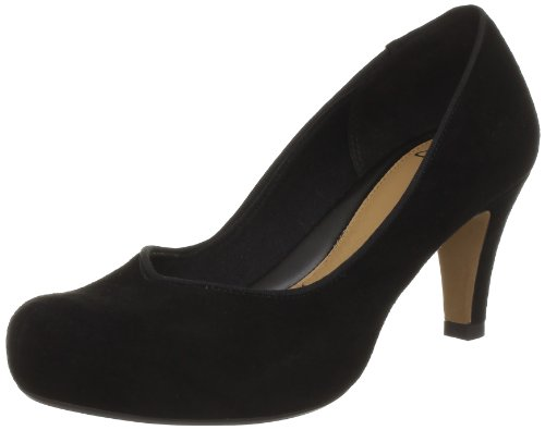 Clarks Chorus Voice Pumps Womens Black Schwarz (Black Sde) Size: 9 (43 EU)