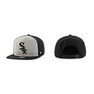 Chicago White Sox Adult Sure Shot Accent Snapback Cap - Gray