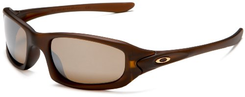 Oakley Men's Fives Iridium Polarized Sunglasses,Matte Rootbeer Frame/Tungsten Lens,one size