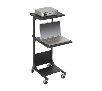 Balt Calculation Stand With 2 Adjustable Platforms, Black 81052