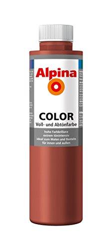 Alpina Farben Voll und Abtönfarbe Wandfarbe Alpina Color Farbton Spicy Red 750 ml