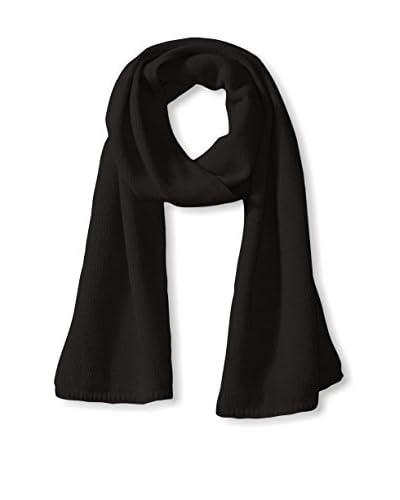Portolano Men's Cashmere Solid Scarf, Black