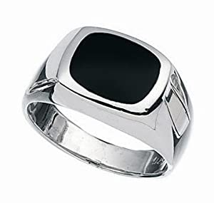 MENS BLACK ONYX SIGNET RING You choose size N up to Z2