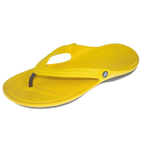 Crocs - Duet Flip Unisex: Schuhe, EUR: 37.5, Yellow/Graphite