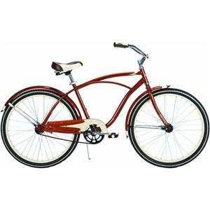 Review Huffy Men's Good Vibration Bike (Cinnamon Metallic, Large/26-Inch)