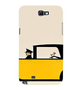 PrintVisa Rich Girl Art 3D Hard Polycarbonate Designer Back Case Cover for Samsung Galaxy Note 2