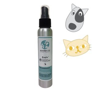 Natural & Organic Flea, Tick & Mosquito Control Spray for Dogs & Cats | 4oz Evolv Cedar Scent | Kills Full Lifecycle of 100s Pests - Just Spray & Play | No Chemical Pesticides, Made from Non-Toxic, Human Food-Grade Ingredients | Spray on Pet Bedding, Flooring & Furniture - Non-Staining, Dries Clear & Will Not Attract Dirt | Made in the USA
