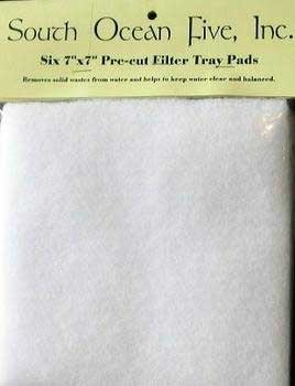 South Ocean Five Aof10119 6-Pack Pre-Cut Felt Filter Tray Pad For Aquarium Filter, 7 By 7-Inch front-571825