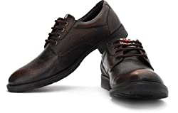 Lee Cooper Mens Brown Leather Shoes - 9 UK