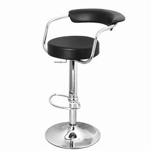 Zenith Bar Stool Black - Set of 4 | Zenith Kitchen Stool, Zenith Breakfast Bar Stool, Faux Leather Bar Stool, Gas Lift Bar Stool
