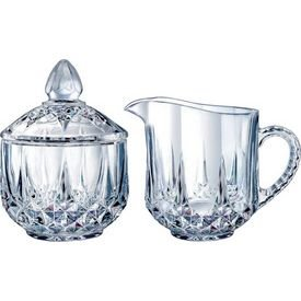 Cristal D'Arques Longchamp Sugar & Creamer by Arc International