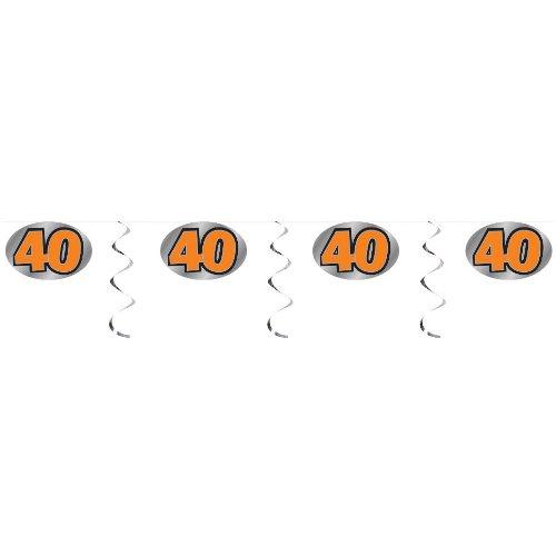 40 Embossed Foil Garland