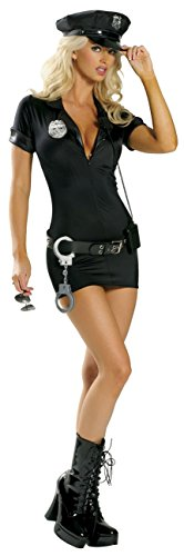 Sexy 7pc Women's Stop Traffic Cop Police Officer Costume (S/M) (Stop Traffic Cop Sexy Costume)