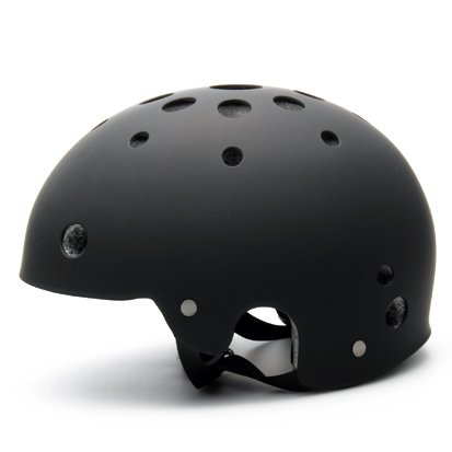 登山用・BMX自転車用ヘルメット(CS4800) (マットブラック, L(56~59cm))