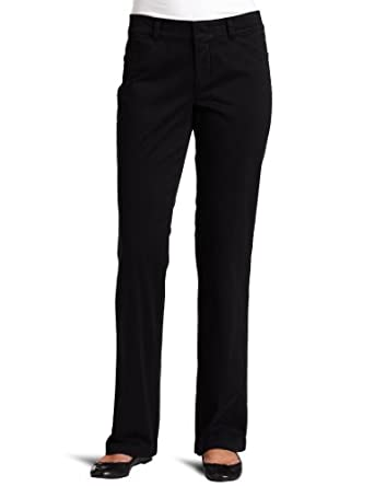 Dockers Women's The Khaki With Hello Smooth Pant, Black, 4