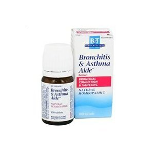 Boericke & Tafel - Bronchitis & Asthma Aide - 100 sublingual tablets, 2 pack