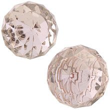 Little Boutique Crystal Finial Set of 2 - Pink