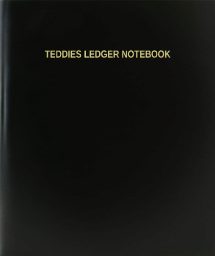 BookFactory® Teddies Ledger Notebook - 120 Page,