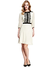 M&S Collection Floral Lace Chiffon Tea Dress