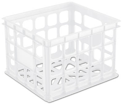 Images for White Plastic Storage Crate - Set of 3 (White) (10 1/2