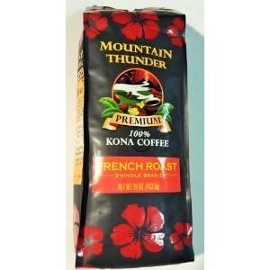 Kona Coffee French Roast Whole Bean, 16 Ounce