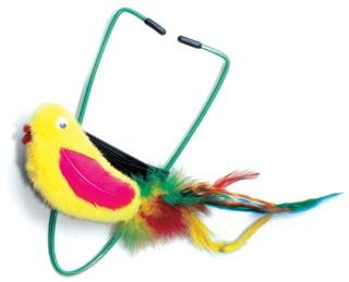 Image Ethical A-Door-Able Bird Cat Toy with Rattle and Catnip