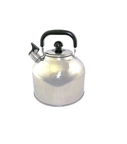 Stainless Steel Whistling Tea Kettle Large 7 Quart Teapot with Mesh Infuser 6.3 Liter Hot Water Pot Removable Lid Covered Handle Big Teapot For Making Fresh Brewed Iced Tea or Coffee Loud Whistle