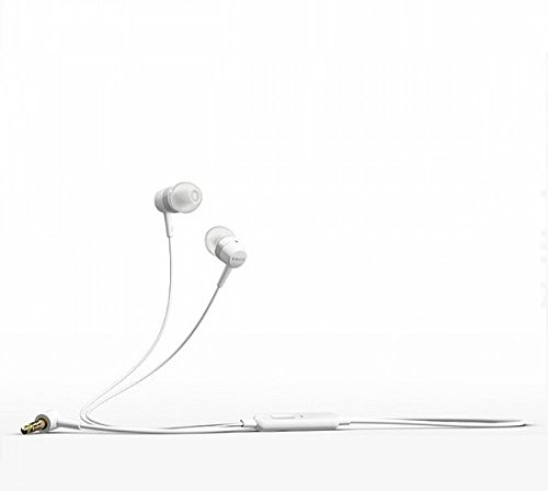 3.5mm In Ear Earbud Stereo Sound Noise Free Earphones Voice Dialing Headphones EX MH 750 Mini Size Hand-Free Headset with Mic ForMicromax A87 Ninja 4.0 and any Phone, MP3 Player, PC, Laptop etc with 3.5 mm jack. Colour : White