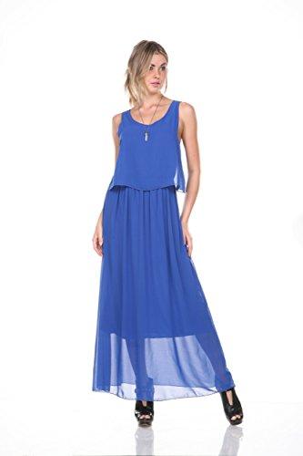 Stanzino Women'S Chiffon Bohemian Sleeveless Maxi Dress