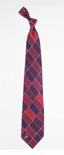 MLB St. Louis Cardinals Patchwork Silk Tie - Navy Blue/Red at Amazon.com
