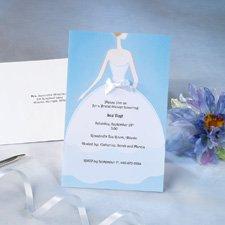 WILTON BRIDES DRESS & BOW INVITE 12CT 1008-655