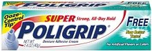 Super Poligrip Denture Adhesive Cream Free of Artificial Colors and Flavors-1.4 oz