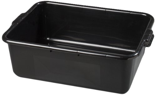 "Carlisle 4401103 Bus Box, 20"" L x 15"" W x 7"" H, Black, Pack of 12"