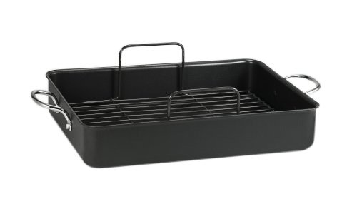 T-fal A85797 Specialty Nonstick 16 x 13 x 3-Inch Roaster Cookware, 16-Inch by 13-Inch, Gray (Tfal A8579784 compare prices)