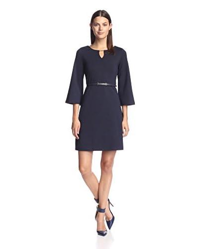 Sharagano Women's Belted Shift Dress