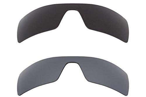 New SEEK OPTICS Replacement Lenses for Oakley OIL RIG Grey & Black Mirror Combo