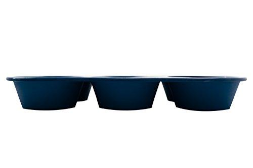 Marathon Housewares KW200016BL Premium Silicone 6 Cup Jumbo Muffin or CupcakePan, Blue