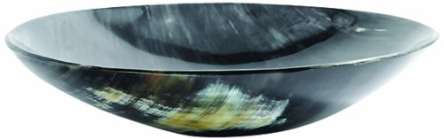 Shipwreck Beads Water Buffalo Horn Bowl, 7-Inch