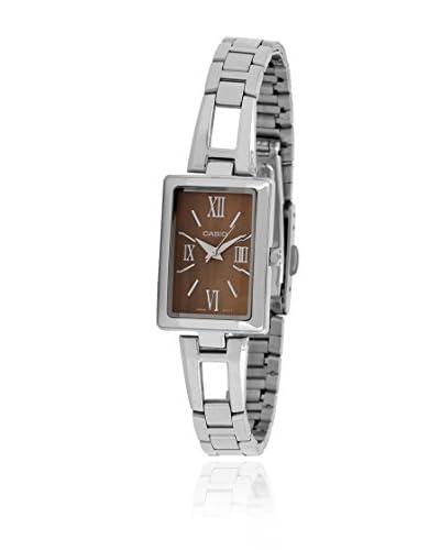 Casio Reloj Ltp-1341D-5A Plateado / Naranja
