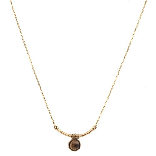 Low Luv - Mini Bar Necklace - 14 Karat Gold Plated