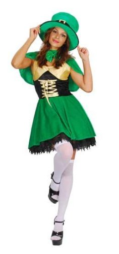 Leprechaun Woman Fancy Dress Costume