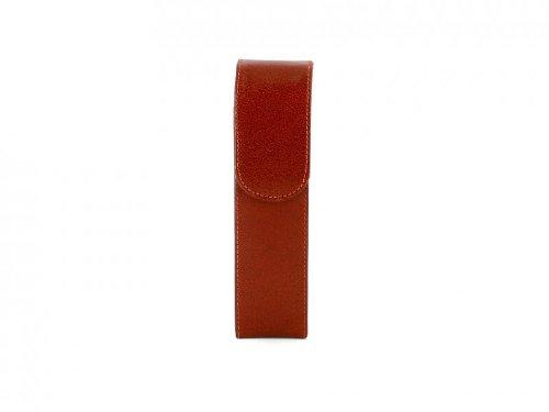 Humidor Cigar Case 2er Brown Leather 16cm