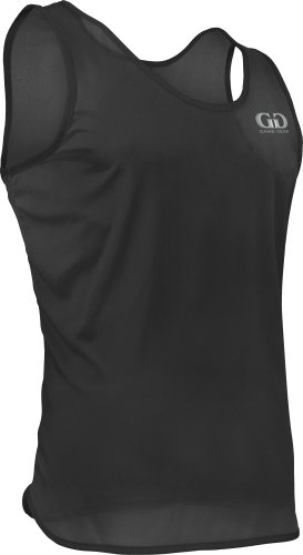 TR903 Men's Athletic Single Ply Solid Color Light Weight Track Singlet (Large, Black)