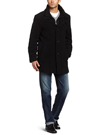 Calvin Klein Men's Coleman Coat, Black, 40 Regular