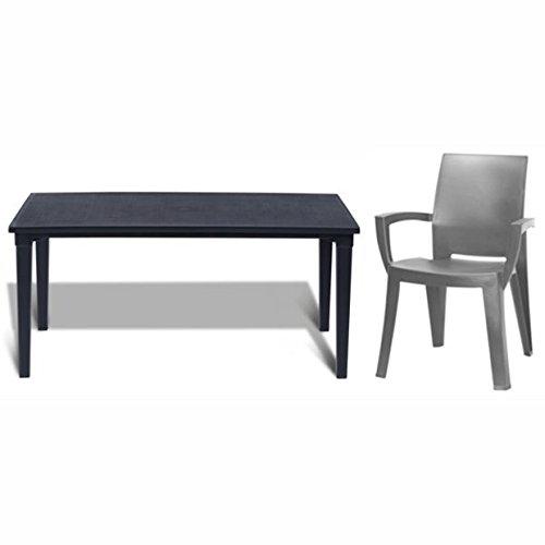 Allibert-Tisch-Futura-6-x-Stuhl-Lago-anthazit-Balkonset-Sitzgruppe