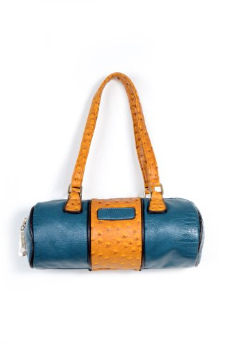 Circle Me Bag in Teal and Mustard