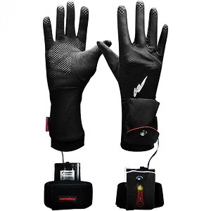 Warmthru Heated G3 Gloveliners- Black- Medium, Rechargeable with FREE Gloves!