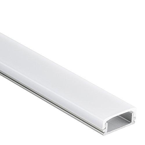 Profilo PN15 Han in alluminio per Strisce LED 2m + Copertura opale