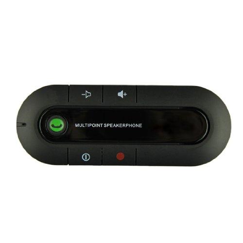 Voberry Universal Bluetooth Multipoint Handsfree Car Kit Speaker For Iphone Samsung Htc